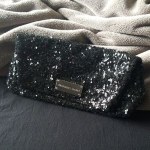 Victoria's Secret Black Sequin Clutch